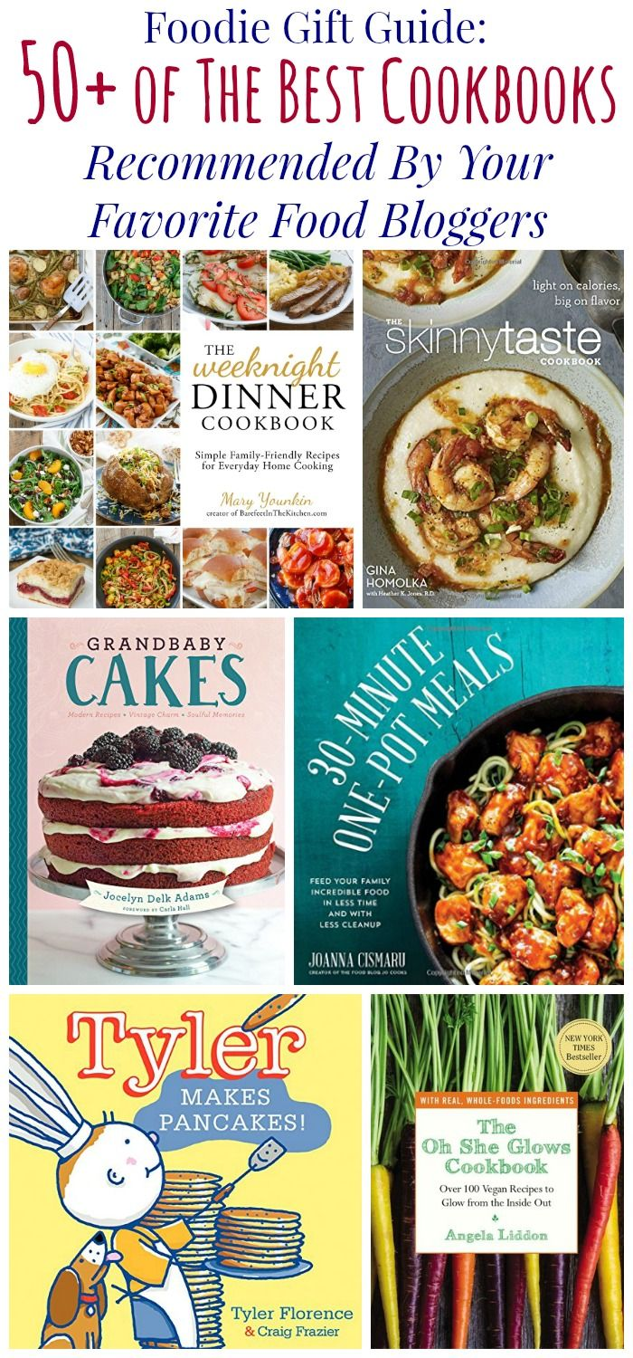 50+ of the Best Cookbooks - a gift guide for foodies of favorite cookbooks