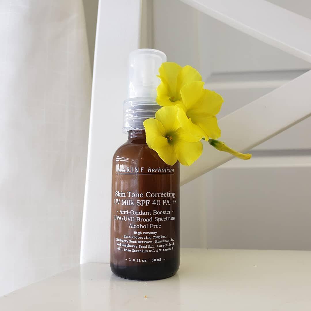 Marine Herbalism Skin Tone Correcting Uv Milk Spf 40 Antioxidant