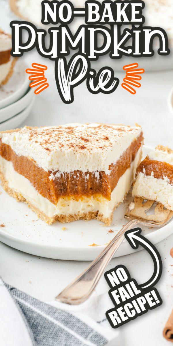 No-Bake Pumpkin Pie Recipe {Easy & Only 10 Minute