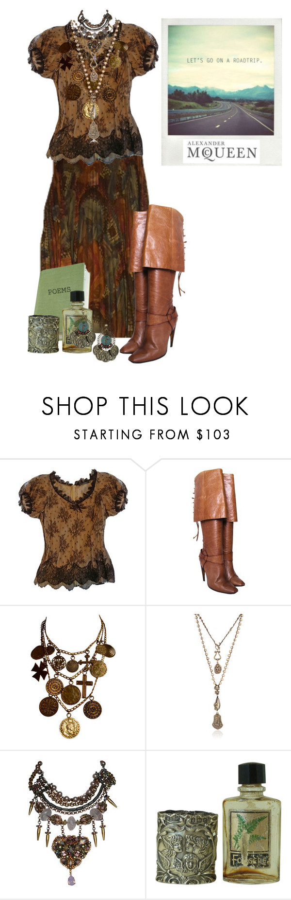 """""""~Alexander McQueen~"""" by confusgrk ❤ liked on Polyvore featuring Alexander McQueen, Yves Saint Laurent, Love Heals, Erickson Beamon, Topshop and AmiciMei"""