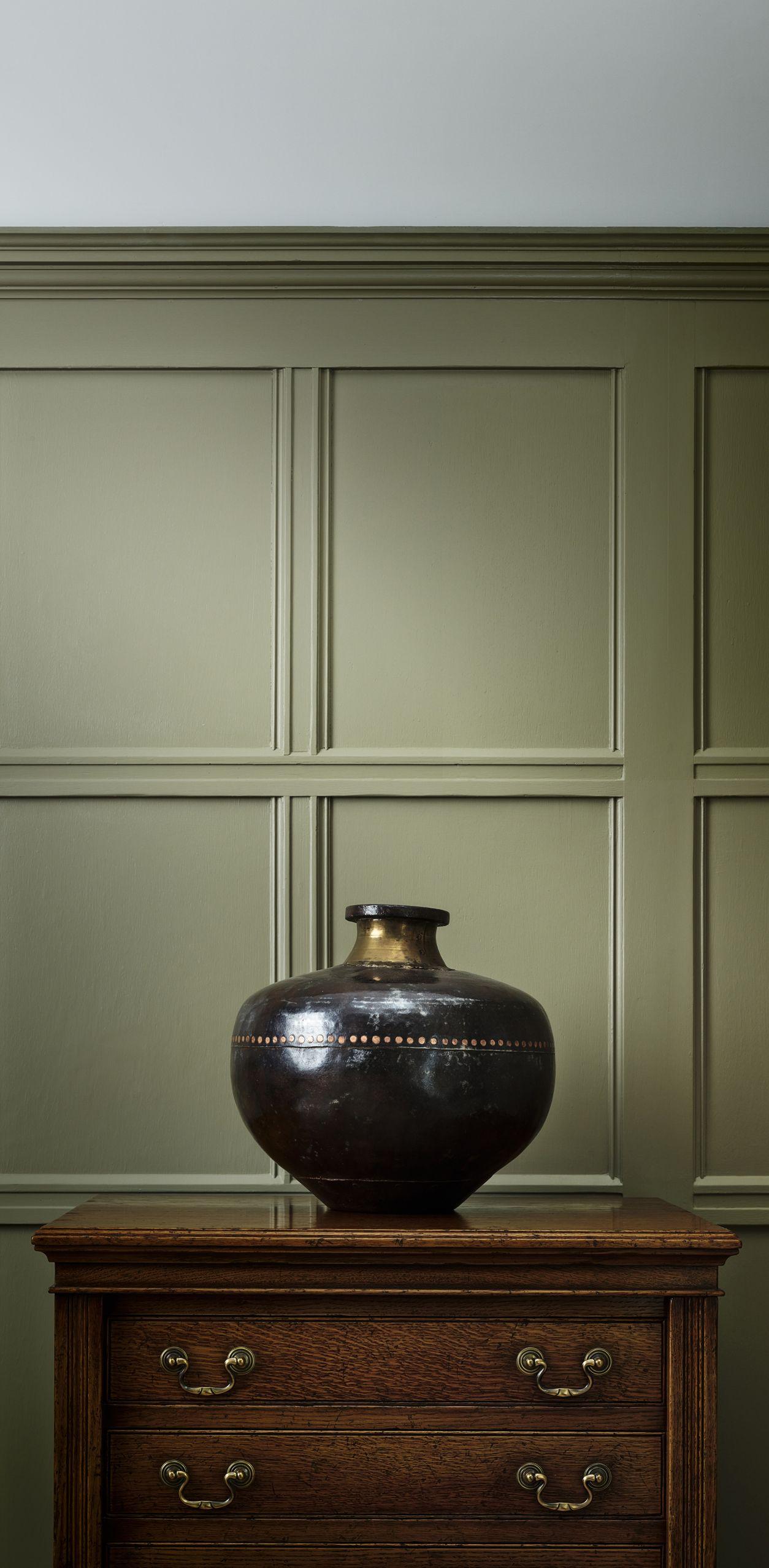 English Paneled Room: Marston & Langinger Paint Warm White Chalky Interior Matt