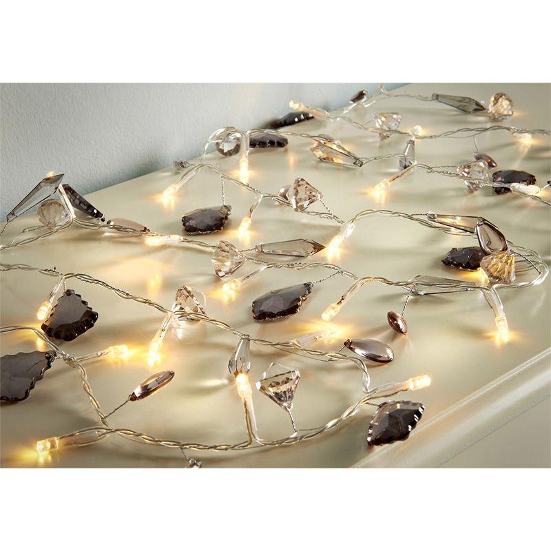 30 Led Luxury Jewel Lights Charcoal Livingroom