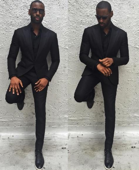 Davidson Frere black suit | Amazing African Clothing for Men #美學 ...