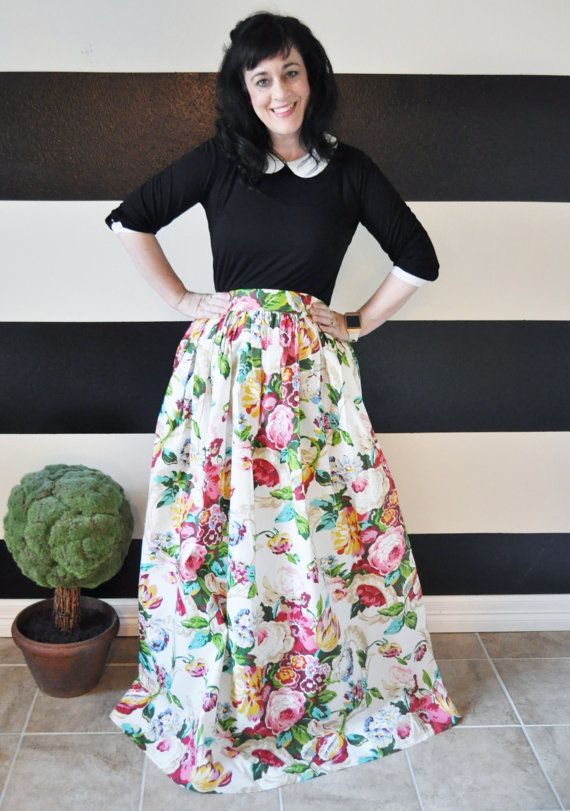 5fd03bee9d2ce Floral Maxi Ball skirt