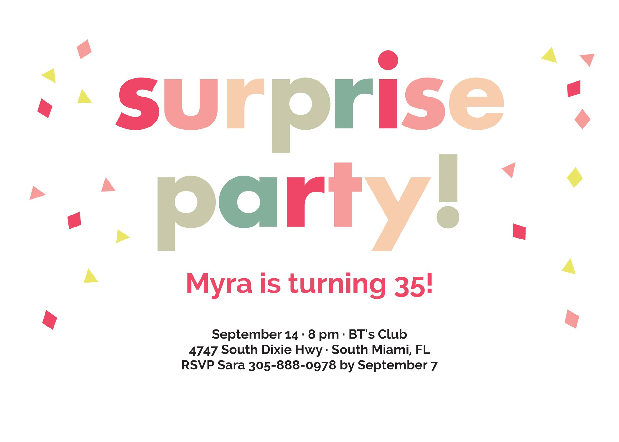 How to Make Surprise Party Invitations Designs graceful