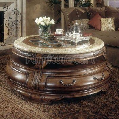Tuscano Round Cocktail Table Aico Furniture Coffee Table Round Cocktail Tables