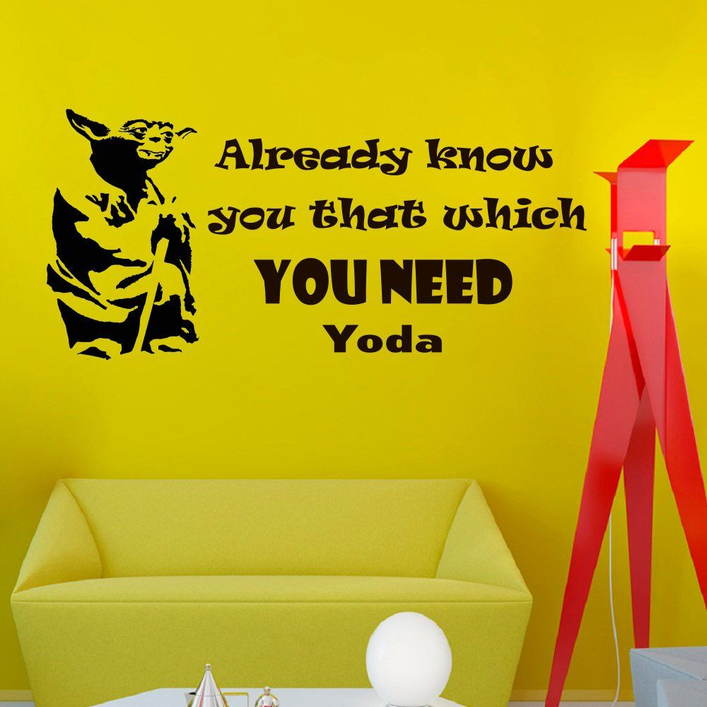 Wall Decals Star Wars Quote Already Know You That Which Yoda Quotes ...