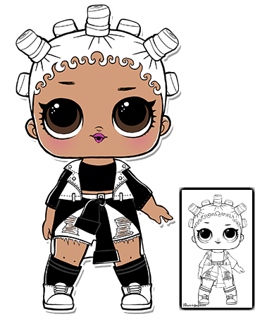 Lol Surprise Doll Coloring Pages Page 5 Color Your Favorite Lol Surprise Doll Lol Dolls Shopkins Doll Doll Party