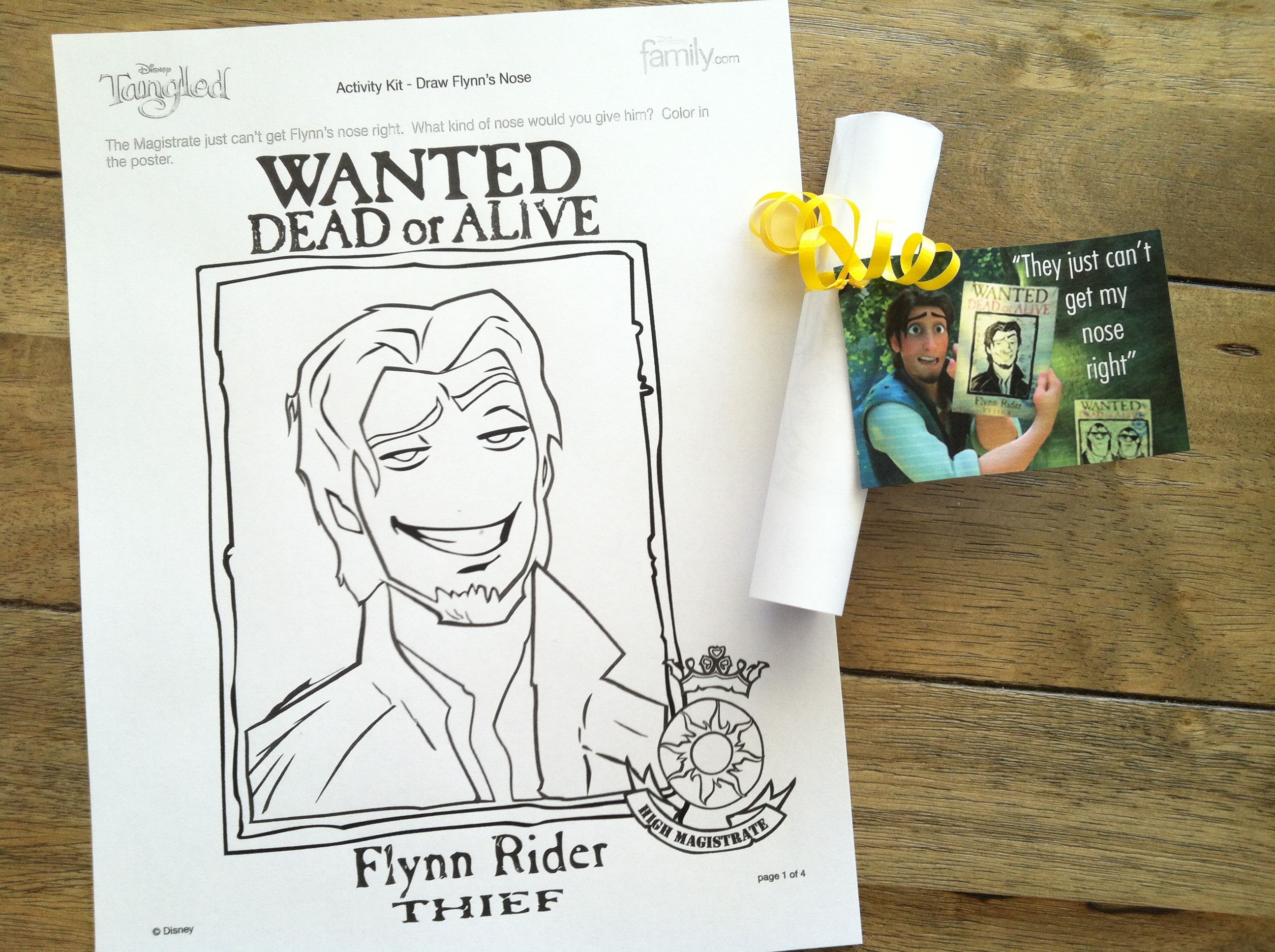 Create Your Own Nose On Flynn S Wanted Poster Printed These