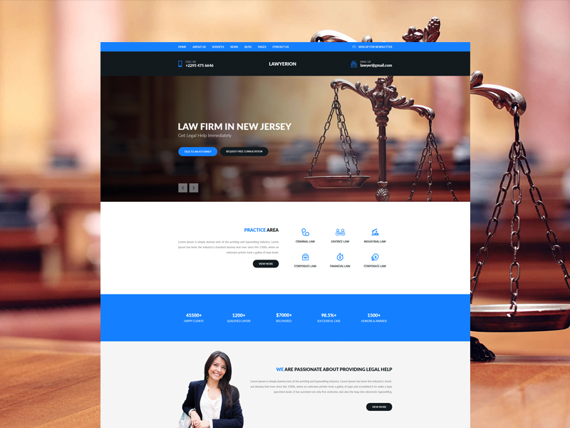 Law Firm Web Template Design