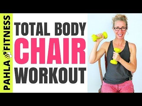30 Minute CHAIR Workout | SEATED Athletic Total Body Knee-Friendly Routine with CARDIO + STRENGTH - YouTube