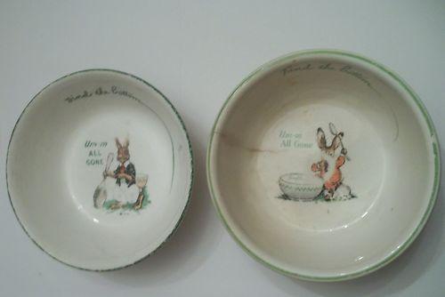 2 Vintage Ralston Purina Children S Bunny Cereal Bowls 1925 Ebay Cereal Bowls Purina Bowl
