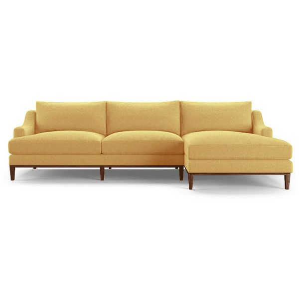 Joybird Price Mid Century Modern Yellow Sectional 2 279 Liked On Polyvore Featuring H Furniture Prices Mid Century Style Furniture Mid Century Style Sofas