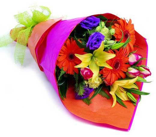 Affection this joyful bouquet is perfect for her a for Different color roses bouquet