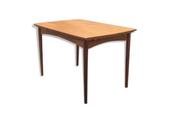 Table à manger teck extensible vintage - bois (Matériau) - bois ...