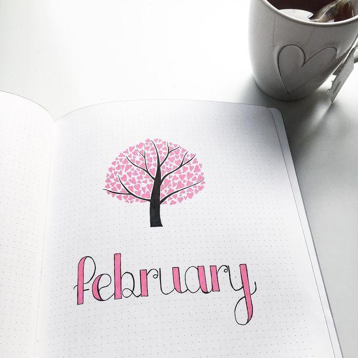 "Amalie on Instagram: ""Rady for February � Bring it on pink � . . . . . . . #bulletjournal #bujo #bulletjournaljunkies #bulletjournaladdicts #bulletjournaling…"""