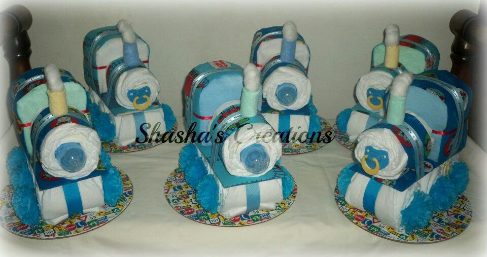 Thomas The Train Diaper Cake Baby Shower Diaper Cake Thomas