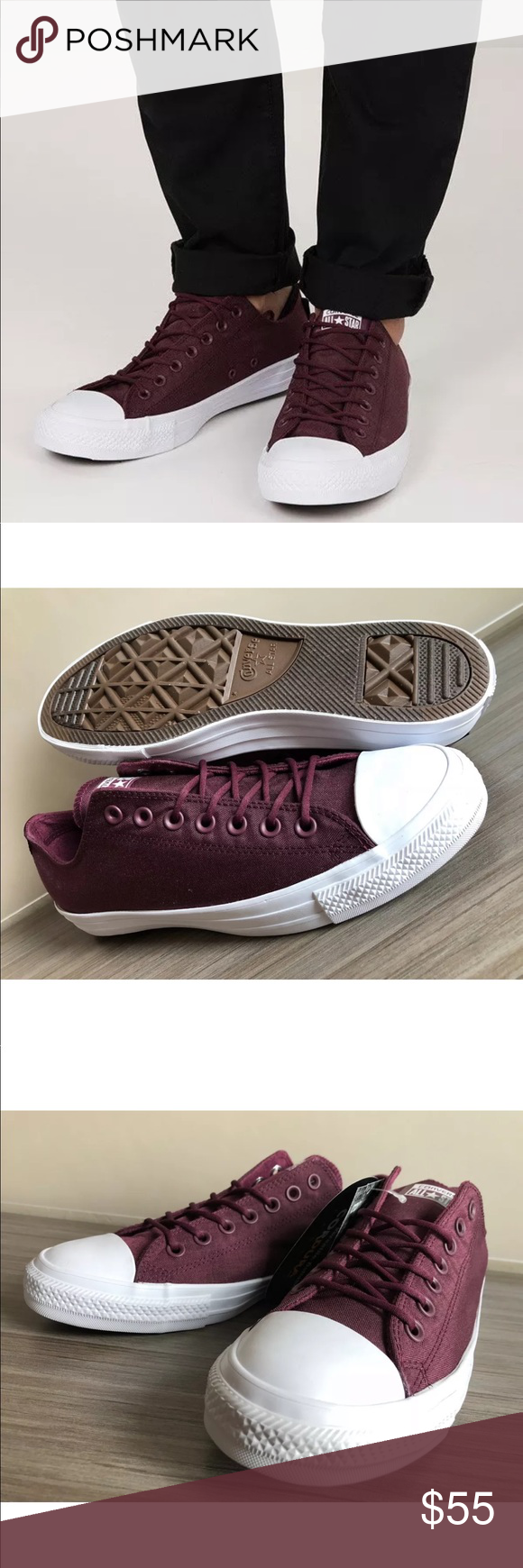 7a56e83beab6 Men s Converse Chuck Taylor All Star Ox Corduro AUTHENTIC CONVERSE CHUCK  ALL STAR OX MEN S SHOES WITH CORDURA FABRIC MEN S SIZES COLOR  DARK SANGRIA  DARK ...