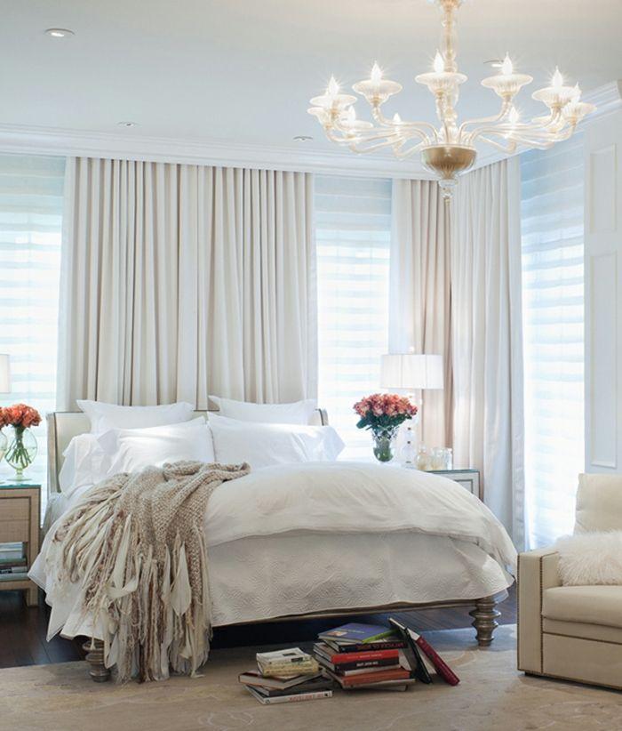 weißer kronleuchter modern - gemütliches schlafzimmer | bedrooms, Badezimmer