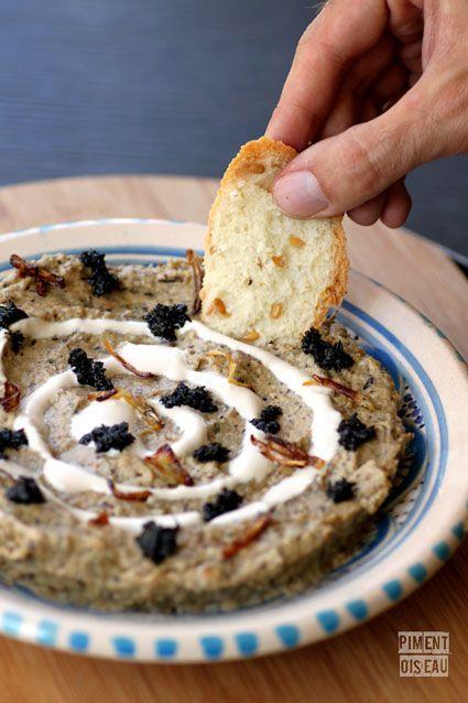 Kashk bademjanpurée d\u0027aubergine à l\u0027iranienne, Iranian eggplant dip