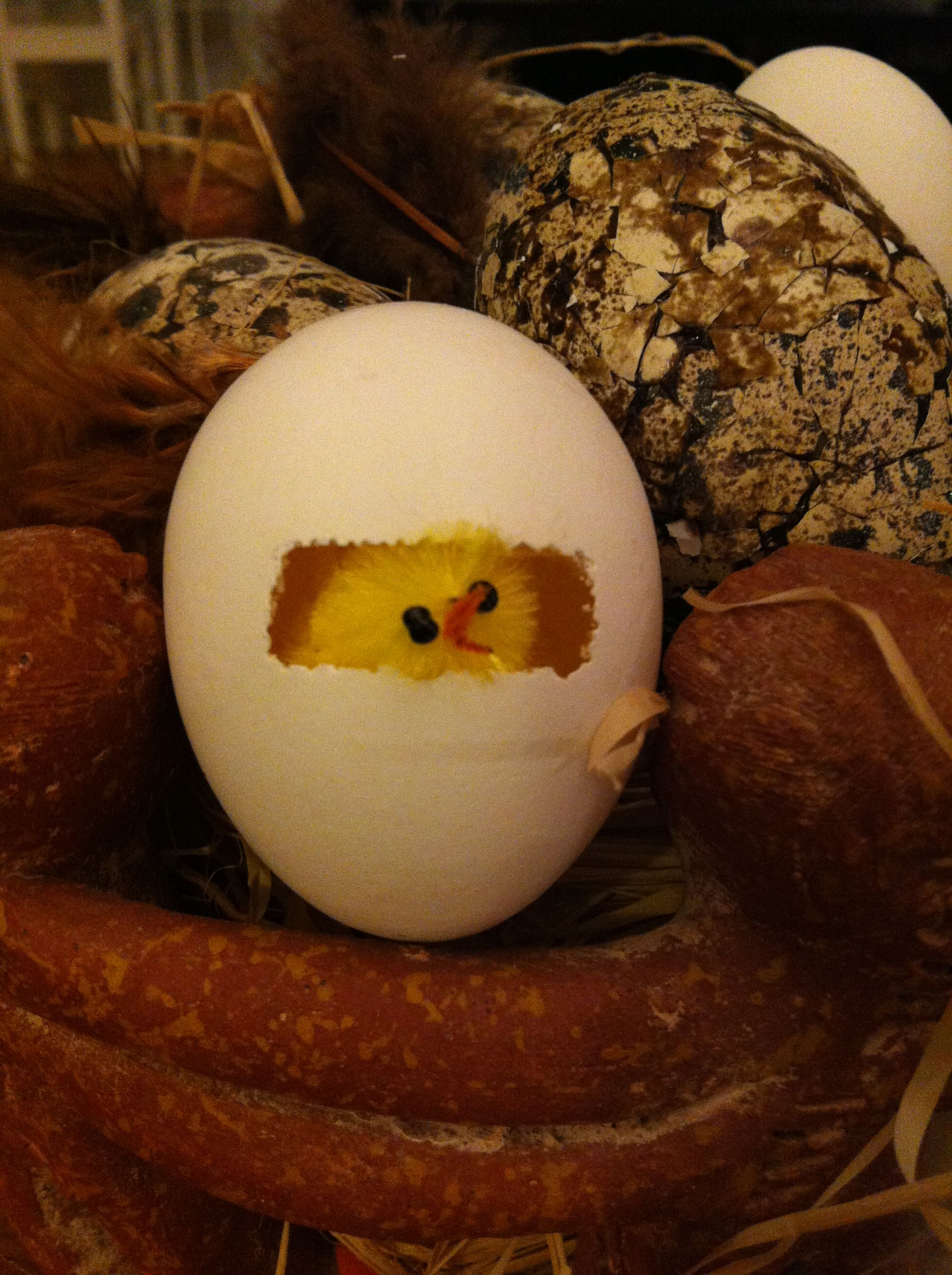 Easter egg with chicken