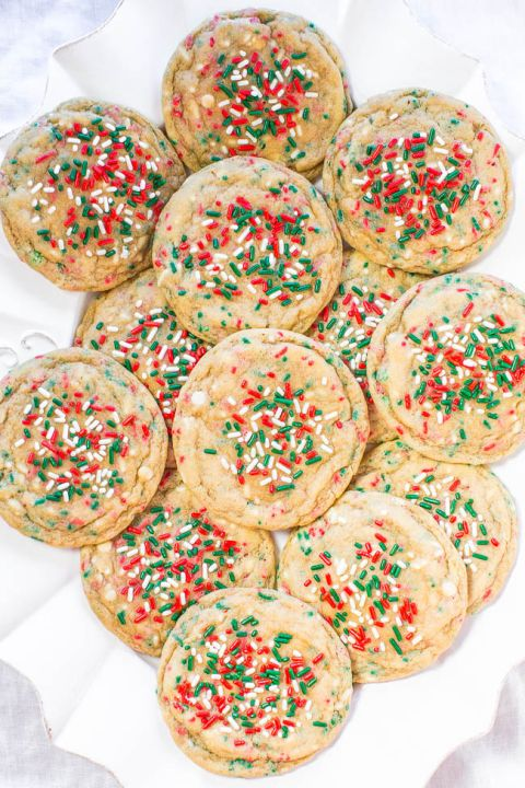 softbatch no roll holiday sprinkles cookies no roll dough with sprinkles baked in so you dont have to decorate cookies everyone loves these soft - Decorating Cookies With Sprinkles For Christmas