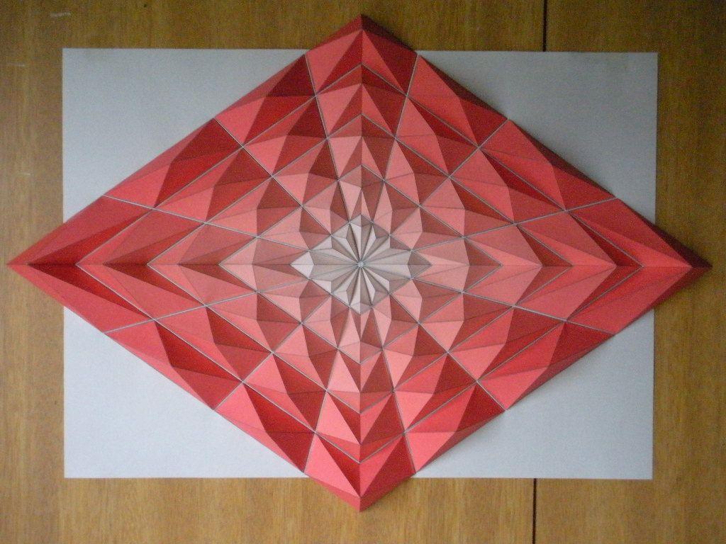 Origami mosaics by kota hiratsuka tesselation baby pinterest