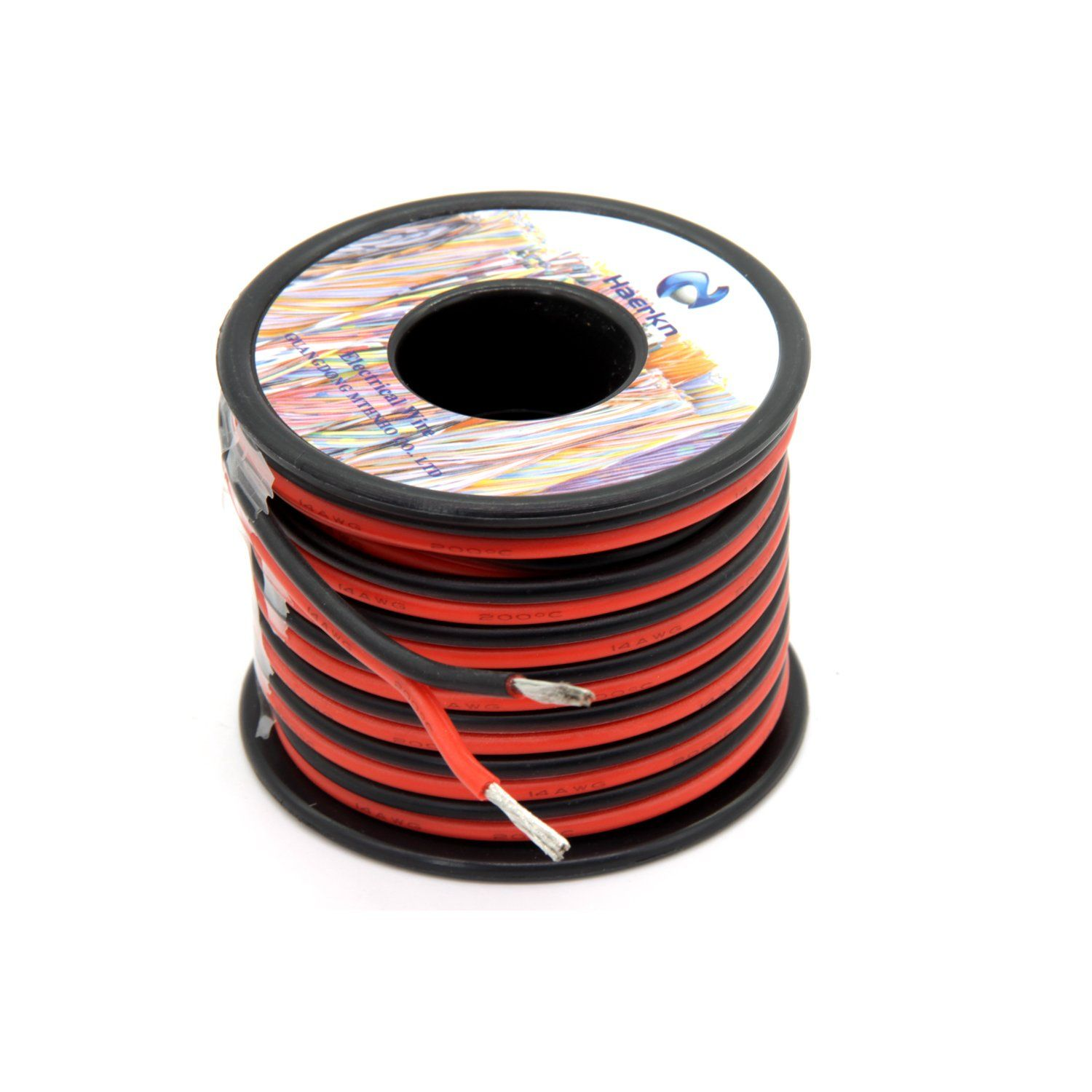 14 Awg Silicone Electrical Wire 2 Conductor Parallel Wire Line 50ft 14 Gauge Soft And Flexible Hook Up Oxygen Free S Electrical Wiring Electricity Copper Wire