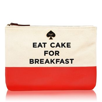 Just received this Kate Spade cosmetic bag as a gift.  LOVE! <3