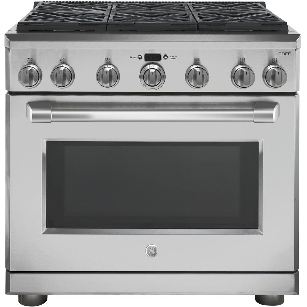 Ge 6 2 Cu Ft Self Cleaning Freestanding Gas Convection Range Stainless Steel Silver Oven Cleaning Convection Range Range Cooker
