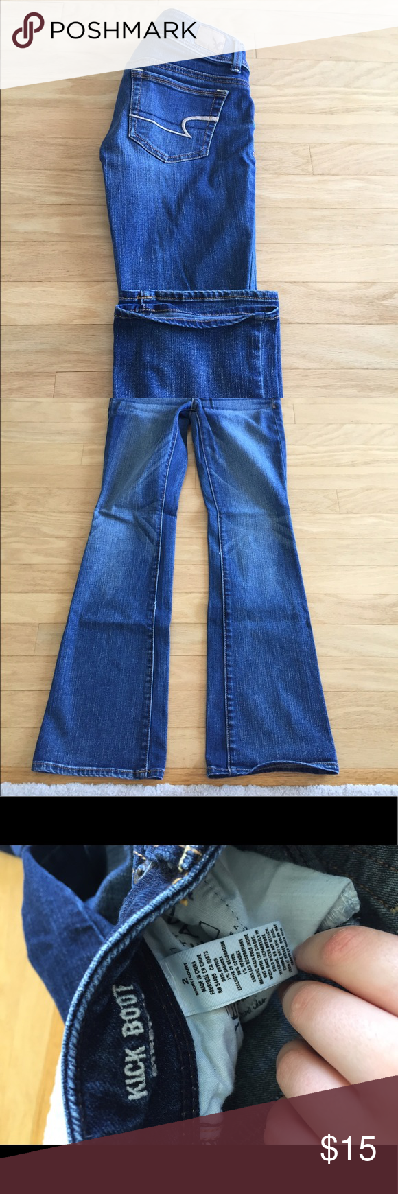American Eagle Jeans American Eagle kickboot Jeans, size 2 stretchy, only worn a few times American Eagle Outfitters Pants Boot Cut & Flare