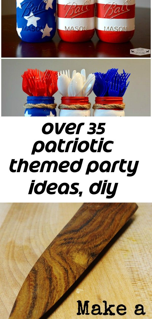 Over 35 patriotic themed party ideas, diy decorations, crafts, fun foods and recipes 2 #labordayfoodideas