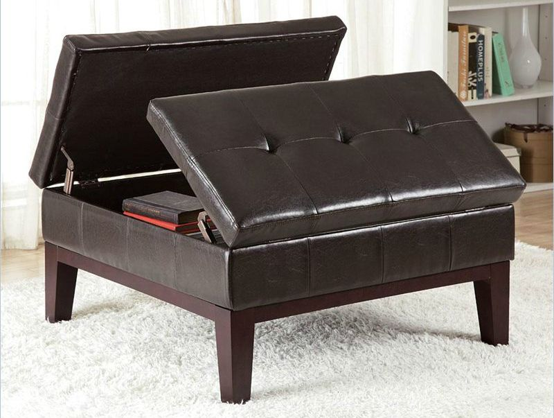 Swell 36 Top Brown Leather Ottoman Coffee Tables Decor Interior Ibusinesslaw Wood Chair Design Ideas Ibusinesslaworg