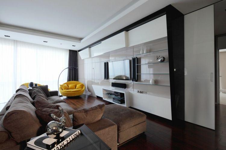 Wohnzimmer Ideen Brauner Couch Apartment Inspiration Klein Raum