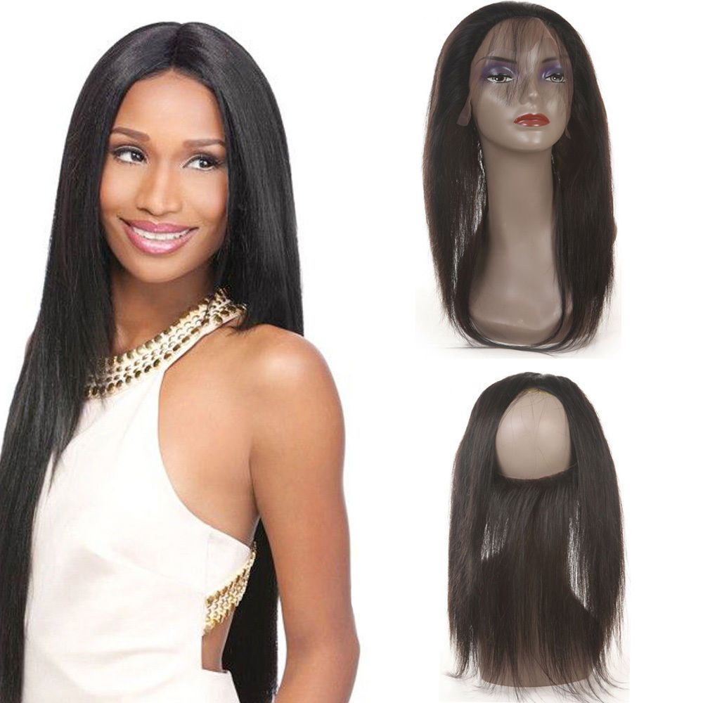 360 Lace Frontal 7a Brazilian Human Hair Lace Frontal Closure Silk