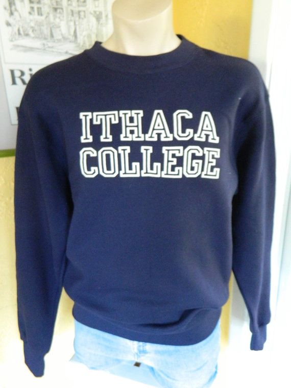 4367d6ab423 Ithaca College 1980s vintage blue sweatshirt size by sideburns
