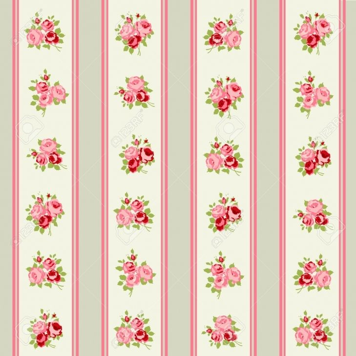 Shabby Chic Wallpaper Border Decorating Ideas