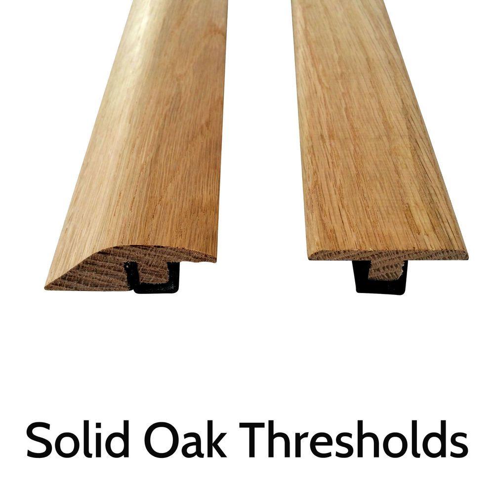Solid Oak Threshold Door Bar Trims Strip For Wood Flooring Ramp And T Bars Ebay Wood Floors Solid Oak Wood Edging