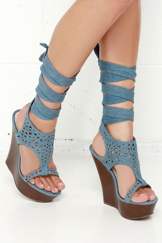 http://www.bonanza.com/listings/Lift-Wrap-Blue-Denim-Leg-Wrap-Wedges-wl/261964136