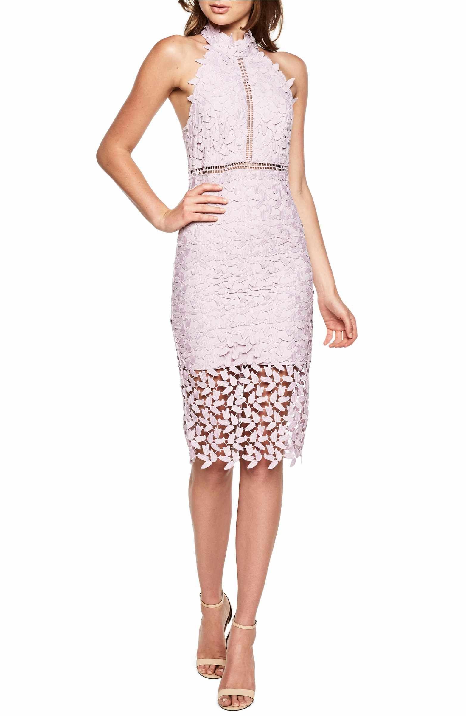 5ba5b589 Main Image - Bardot Gemma Halter Lace Sheath Dress | Outfits I love ...
