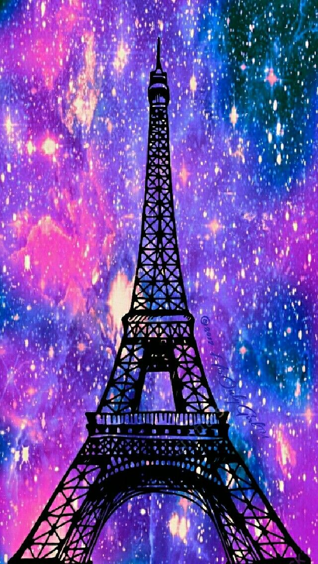eiffel tower galaxy iphoneandroid wallpaper i created for