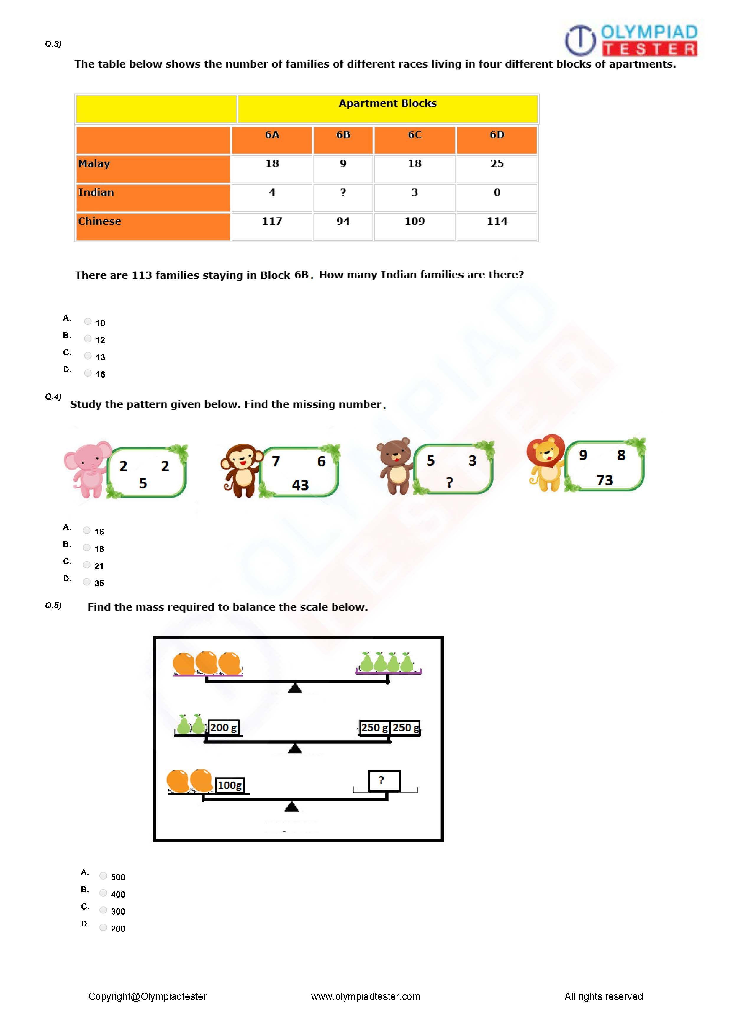 Logical Reasoning Worksheet 03
