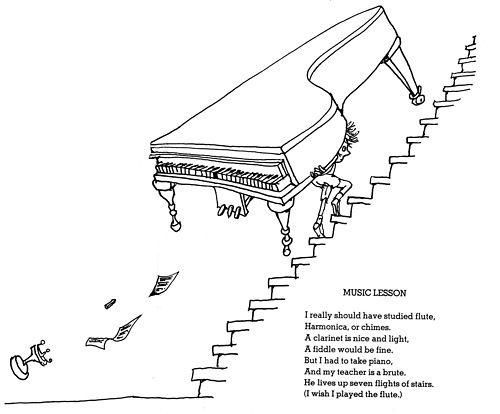 Shel Silverstein Cartoons: Shel Silverstein Music Lesson