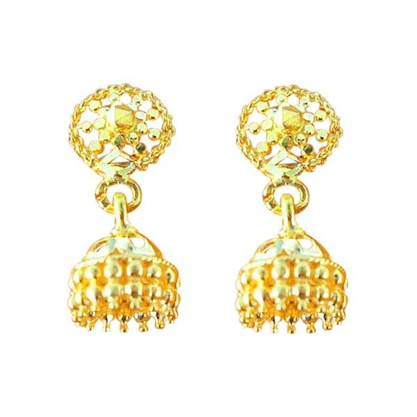 Jpearls Traditional Gold Jhumkas Gold Earrings In 3 Grams Gold