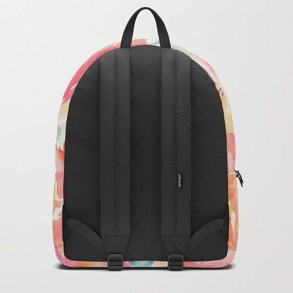 475c59d4a3e42c Floral Backpack, Pink Book Bag Women, College Backpacks, Kids Backpacks,  High School Bags, Travel ba