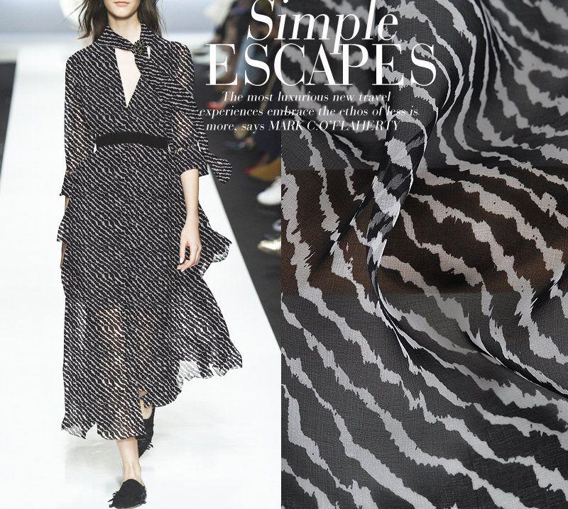 Geometric Print Silky Crepe Dress Fabric Sold per metre