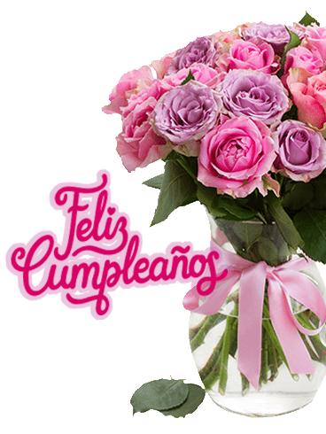 Pink Rose Happy Birthday Card In Spanish