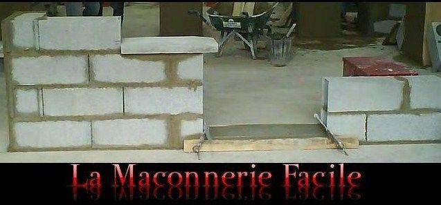 La maçonnerie facile Création de notre maison Pinterest - Enduire Un Mur Exterieur En Parpaing