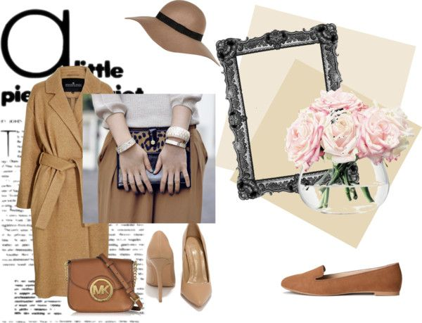 Estremamente #romantico #camel #look with Michael Kors #bag #lovely #coat and #loveley #shoes now on www.robyzlfashionblog.com