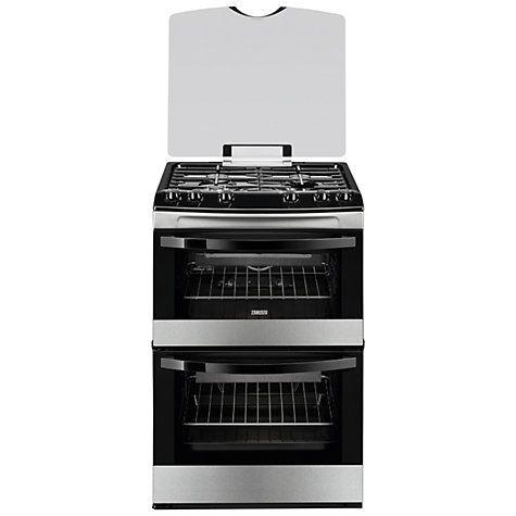 Buy Zanussi ZCG63010XA Gas Cooker, Stainless Steel Online at johnlewis.com